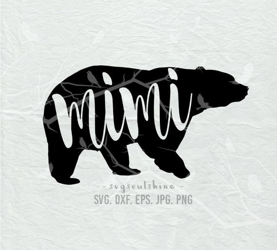 Mimi Bear Svg File Mimi Svg Silhouette Cut File Cricut Clipart Etsy
