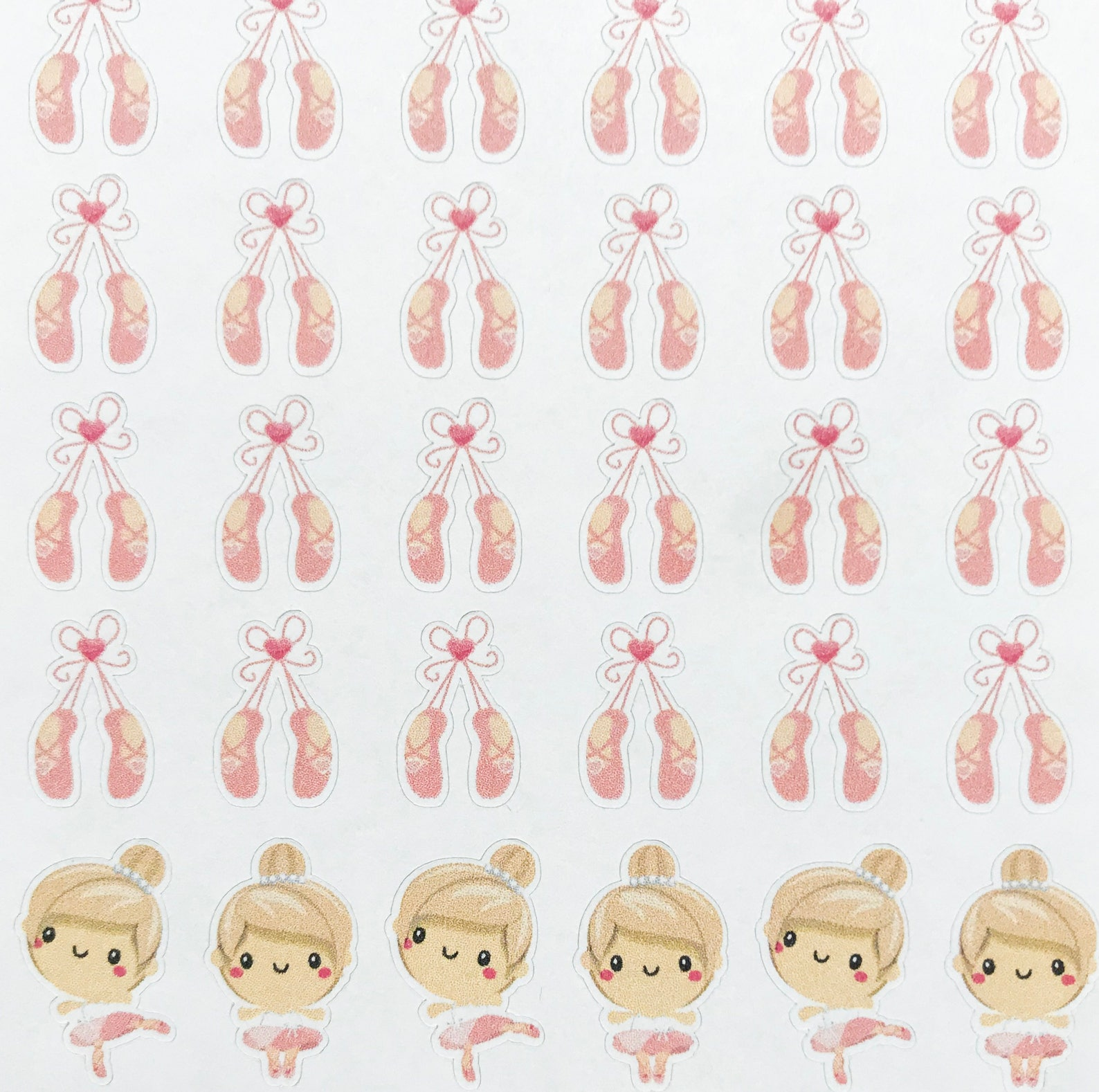 dance planner stickers, ballet stickers, ballet shoes stickers