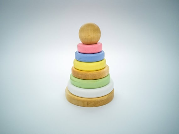 Learning toy Learning tower Handmade Learning Pyramid For Baby Toddler by EnzoToys