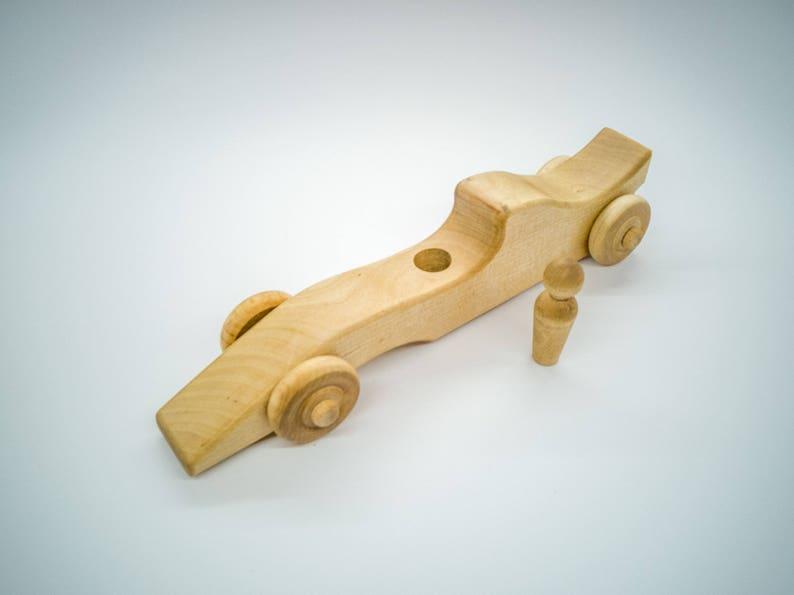 Bauernhof Rennauto F1 aus Holz Holzspielzeug BIO