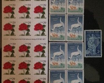 vintage postage stamps for mailing or crafts