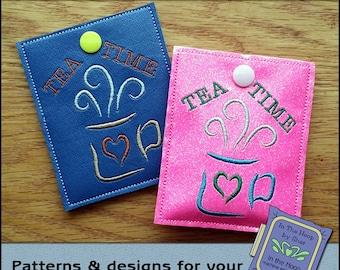 ITH Teacups Large Tea Bag Holder Large Tea Bag Wallet 5 X   Etsy