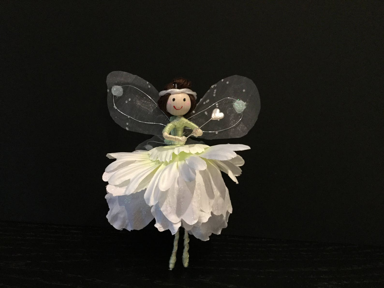 uniquefairyboutique, christmas tree top fairy, wand, unique, ballet shoes, christmas ornament, individual