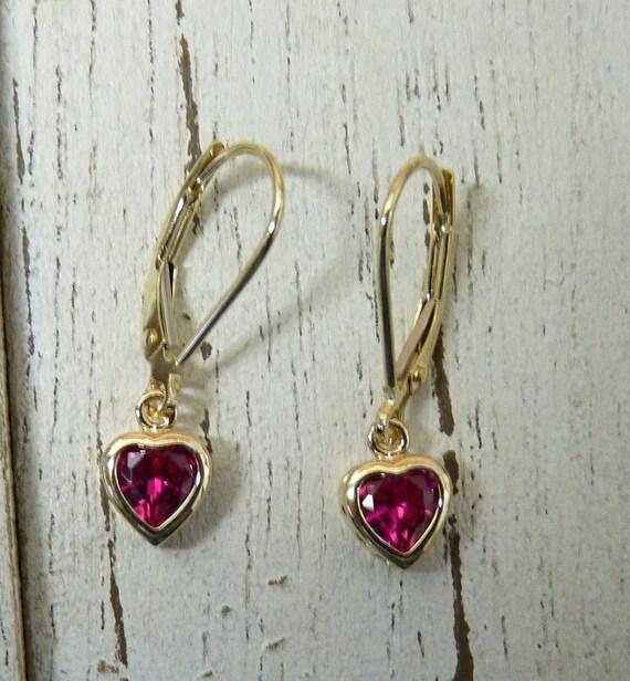 14K White Gold Imitation RubyJuly Birthstone 14 Necklace