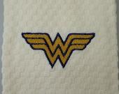 Wonder Woman Logo Embroidered Hand Towel
