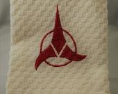 Star Trek Klingon Logo Embroidered Hand Towel