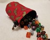 Wonder Woman Metallic Logo Dice Bags / Pouches