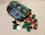 Minecraft Mosaic Dice Bags / Pouches