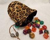 Cheetah Dice Bags / Pouches
