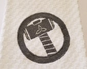 Thor's Hammer Embroidered Hand Towel