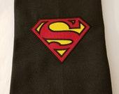 Superman Logo Embroidered Hand Towel