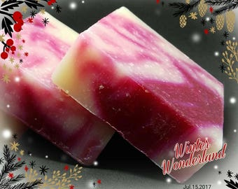 Candy Cane Handmade Holiday Soap