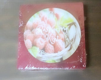Raspberry Mint Sweet and Refreshing Face and Body Bar, Pink and Purple Fruity Cold Process Soap