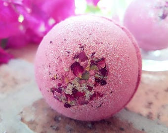 Rose Petal Floral Bath Bomb and Fizzy with Glitter
