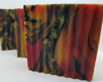 Orange Soap, Patchouli Soap, Soap for Men, Natural Soap, Mens Activated Charcoal Soap, Dad Gift, Husband Gift, Co-Worker Gift, Holiday Soap