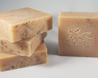 Unscented Goat's Milk Cold Process Soap Bar with Natural Ingredients and Skin Hydrating Oils