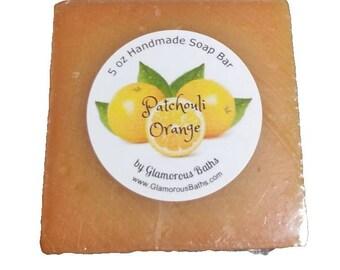 Orange Patchouli Natural Soap, Soap for Men, Natural Soap, Gift for Father Husband or Boyfriend