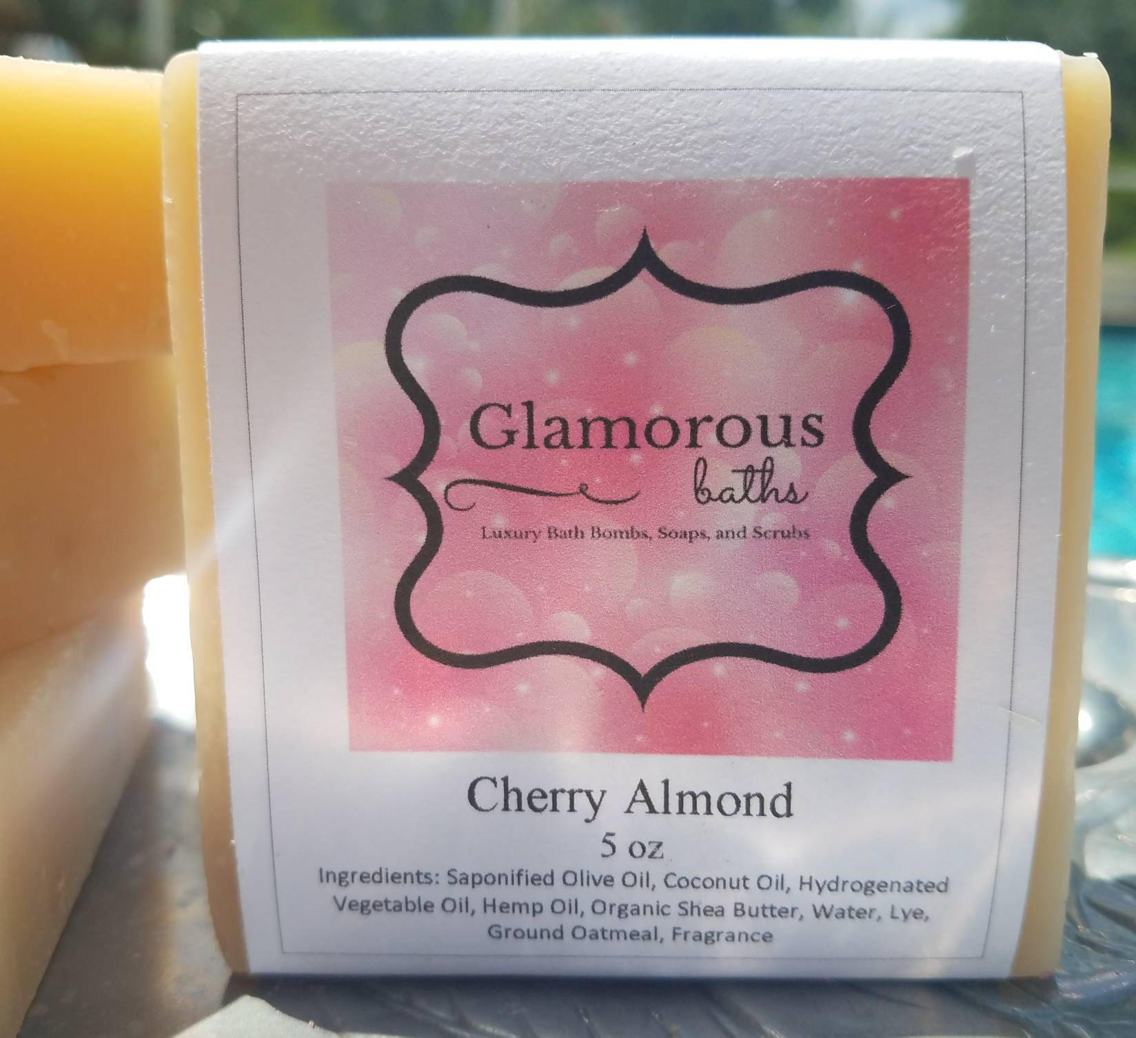 Cherry Almond Soap Bar, Shea Butter Soap, Cherry Soap, Almond Soap ...