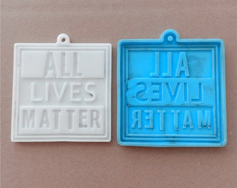 Fist Keychain Mold for Resin Baking Polymer Clay Black Lives Matter Keychain Silicone Mold