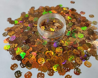 Holo Pumpkin shaped glitter