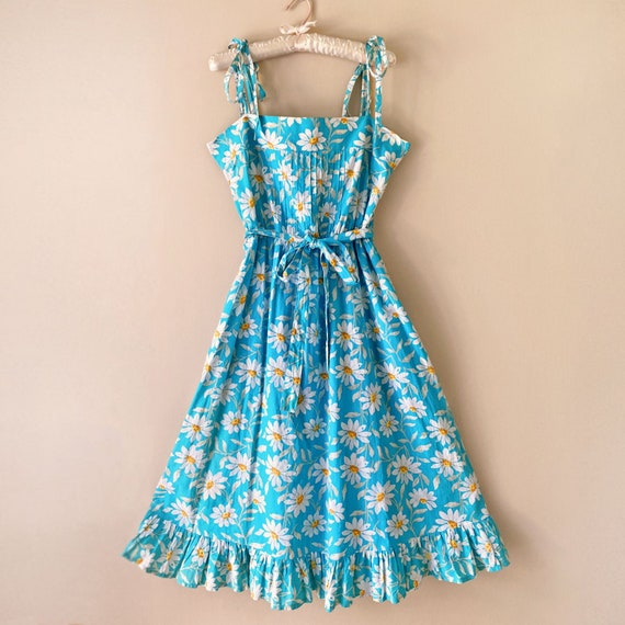Vintage 1980s Laura Ashley Dress Sundress Floral D
