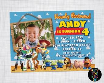 Toy story invitation Etsy