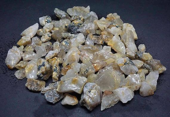 Rutilated Quartz 1 Lbs Lots Natural Rutile Black Gold Needle Specimens