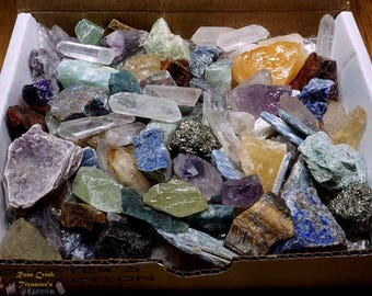 Crafters Collection 1 Lb Gems Crystals Natural Mineral Specimens