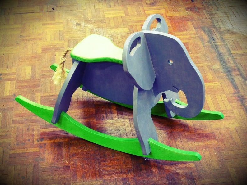 Surprising Elephant Childrens Rocking Chair Vector Drawing Of A Wooden Toy 3D Puzzle Game Cnc Plan File Cnc Vector Model Vector Cutting Plans Uwap Interior Chair Design Uwaporg
