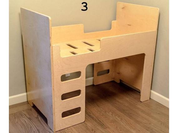 Lit superposé en bois par des enfants. CNC, décoration, objets de ...