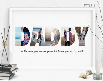 daddy photo collage gift for dad fathers day gift fathers day gift father gift birthday gift for him christmas gift printable file