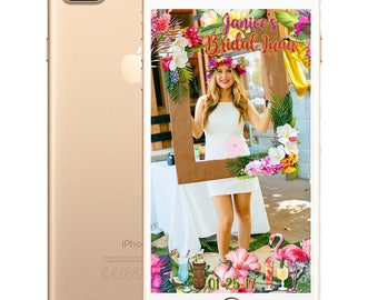 Tropical Luau SnapChat Filter for Birthdays, Bridal Showers and Parties - 10 Different Styles!