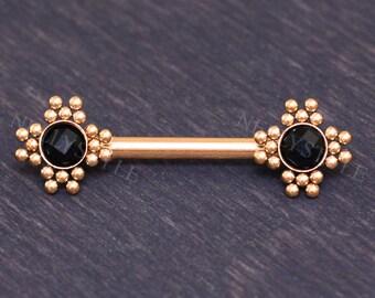 Body Jewelry Nipple Surgical Steel Nipple Barbell 14g Two-faced Nipple Earring