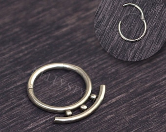 Septum Jewelry - Surgical steel daith piercing earring, septum piercing