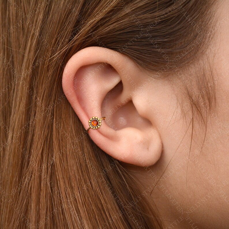 helix jewelry rook piercing CZ Tragus Earring Surgical steel cartilage hoop