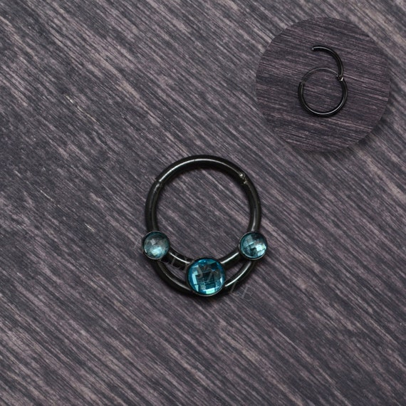 Surgical Steel Daith Jewelry Septum Ring 16g With Cz Daith Etsy