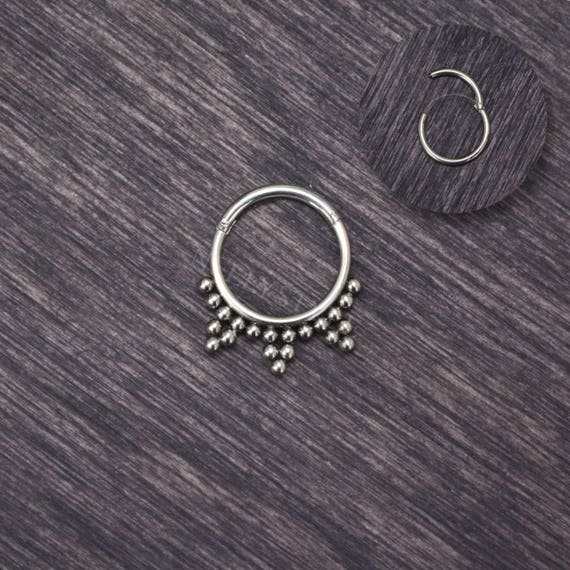 Surgical Steel Daith Jewelry Septum Ring 16g Daith Piercing Etsy