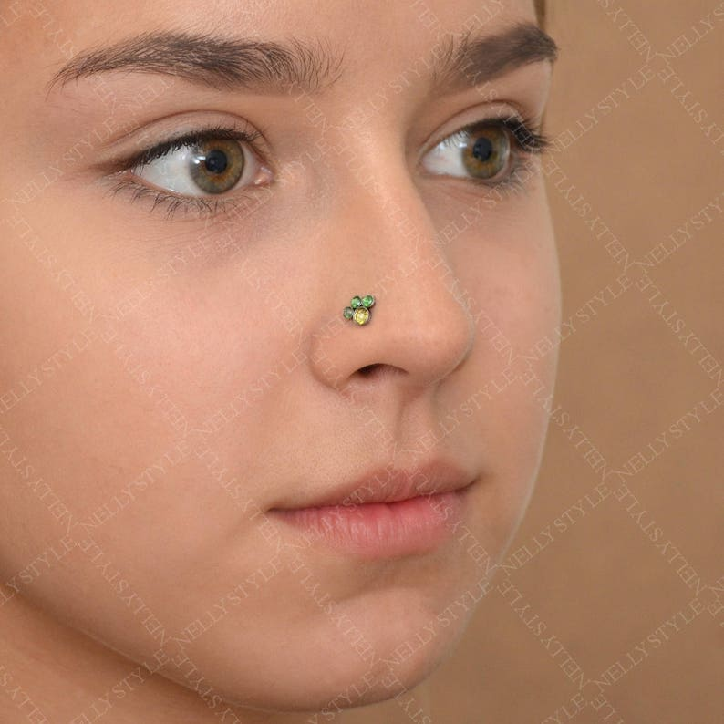 cartilage earring Surgical Steel Nose Stud Earring with CZ stone good as tragus piercing
