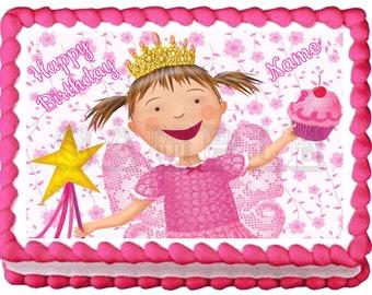 Terrific Pinkalicious Cake Etsy Birthday Cards Printable Benkemecafe Filternl