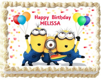 MINIONS Party Image Edible Cake Topper Decoration