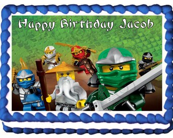 NINJAGO Party Edible Cake Topper Image