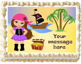 Baking Accs. & Cake Decorating Pirate Girls In The Caribbean Edible Cupcake Toppers Decoration Easy To Lubricate