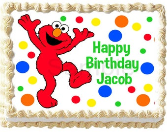 ELMO Image Edible Cake Topper Party