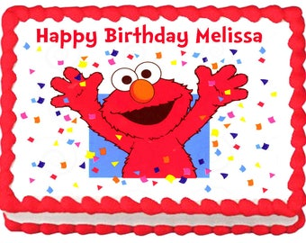 ELMO PARTY Image Edible Cake Topper Decoration