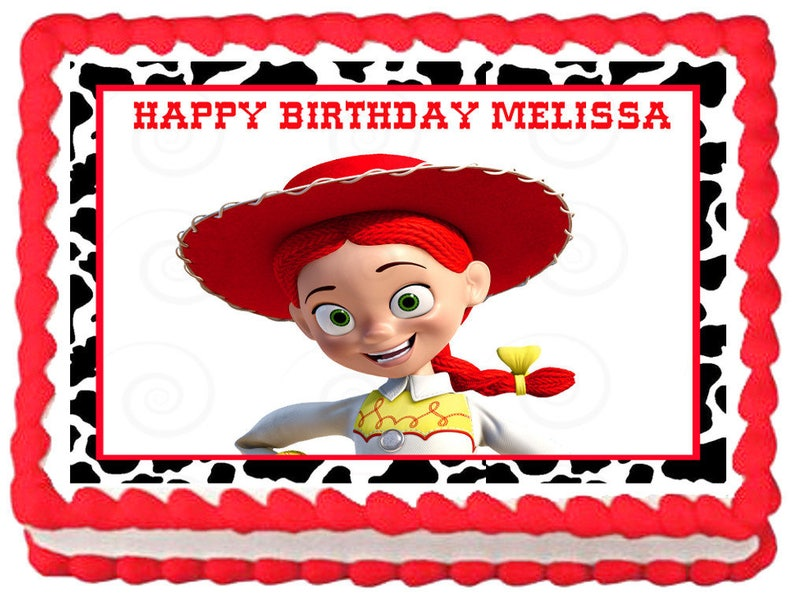 Jessie Toy Story Edible Cake Topper Image Party Decoration Etsy