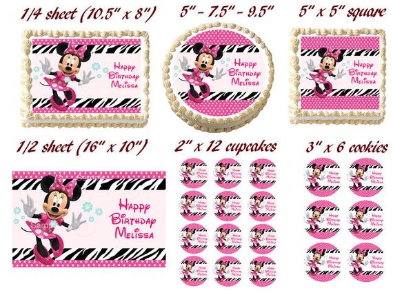 Fine Home Garden Baking Accs Cake Decorating Minnie Mouse First Funny Birthday Cards Online Inifodamsfinfo