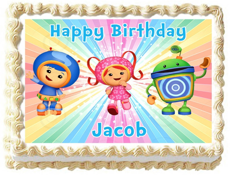 TEAM UMIZOOMI Party Image Edible Cake Topper Decoration