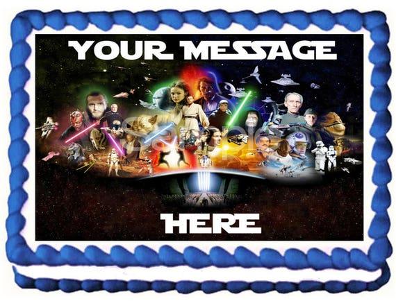 Best 50+ Star Wars Edible Image Cake Decoration