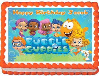 BUBBLE GUPPIES Edible cake topper Image party decoration