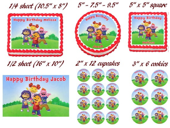 Strange Sid The Science Kid Image Edible Cake Topper Etsy Funny Birthday Cards Online Inifofree Goldxyz